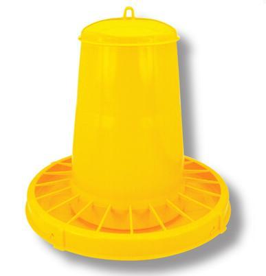 Krmítko 15 kg žlté plastové 0621