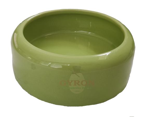 Keramická miska 0,75 l zelená s hranou proti vyhadzovaniu 12404