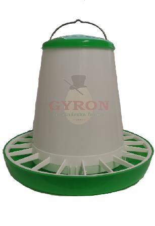 Krmítko plastové tubusové zeleno-biele 10kg 14948