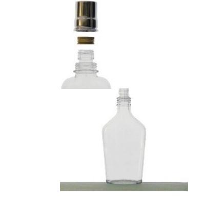 Fľaša 0,2l Ťapka bezfarebná PP22 špec.+uzáver 15236
