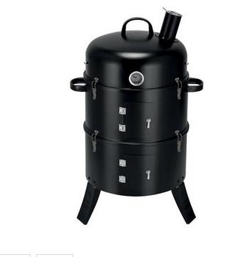 Gril BBQ Smoker, 3v1 grilovanie, údenie a vodné údenie, 44x78 cm 4191