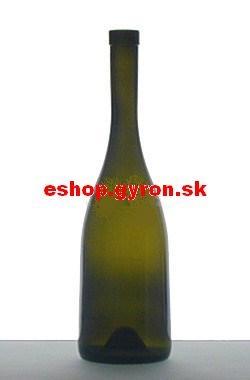 Fľaša 0,75l Perfeta antik zelená + uzáver 5231
