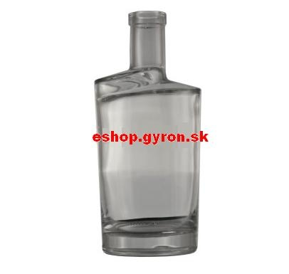 Fľaša 0,7l Twist 540 nízky bezfarebná (okrúhla) 5439
