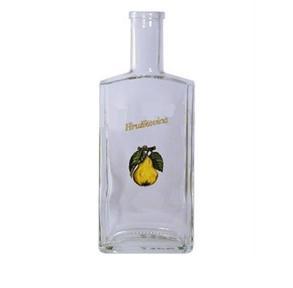 Fľaša 0,5l Ražná bezfarebná JA2145T + obtisk hruška + nápis Hruškovica + vrchnák 5492