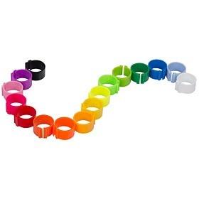 Krúžok pre hydinu 1ks rôzne farby, 12mm priemer 5908-12mm (požadovanú farbu napíšte prosím do poznámky!)
