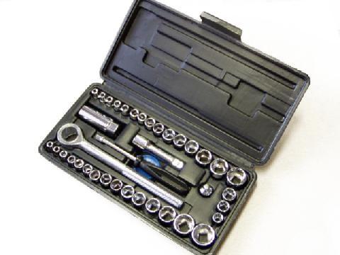 Gola sada 40-dielna sada nástrčných kľúčov 6899