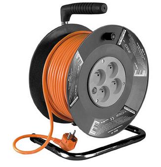 Kabel Strend Pro DG-FB04 35 m, predlžovací na bubne 7029