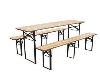 Pivný stôl max 220x70x77 cm, 2x lavica 220x25x47 cm, drevo 27 mm 7779