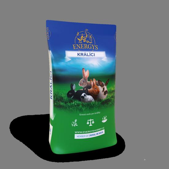 Kompletná kŕmna zmes pre králiky s liečivami 25kg De Heus Energys-7156